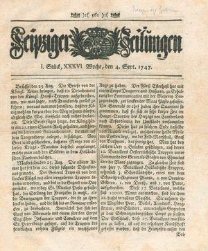 Leipziger Zeitungen vom 04.09.1747