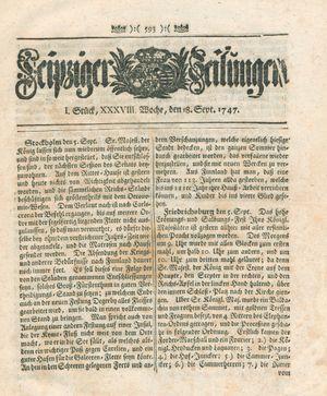 Leipziger Zeitungen vom 18.09.1747