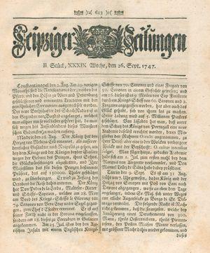 Leipziger Zeitungen vom 26.09.1747