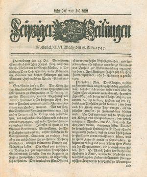 Leipziger Zeitungen on Nov 16, 1747