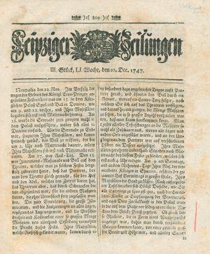 Leipziger Zeitungen vom 20.12.1747