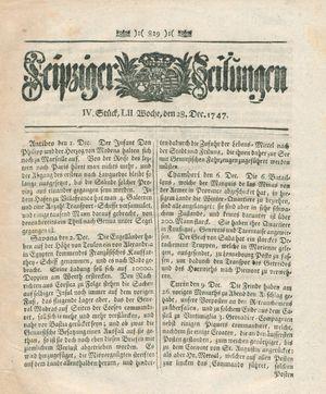 Leipziger Zeitungen vom 28.12.1747