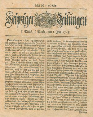 Leipziger Zeitungen vom 01.01.1748