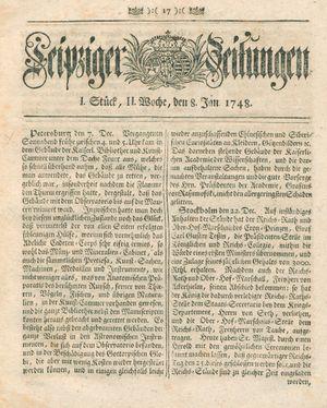 Leipziger Zeitungen vom 08.01.1748