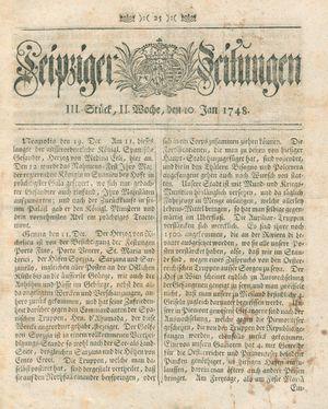 Leipziger Zeitungen vom 10.01.1748