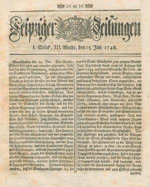 Leipziger Zeitungen vom 15.01.1748
