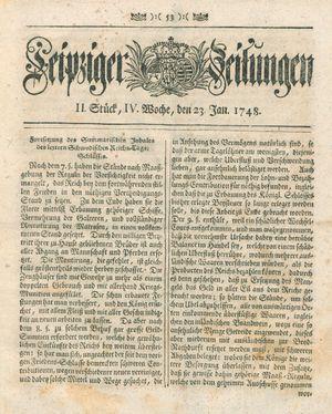 Leipziger Zeitungen vom 23.01.1748