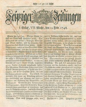 Leipziger Zeitungen vom 12.02.1748