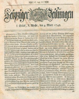 Leipziger Zeitungen vom 04.03.1748