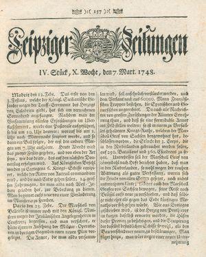 Leipziger Zeitungen vom 07.03.1748
