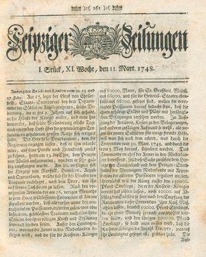 Leipziger Zeitungen vom 11.03.1748