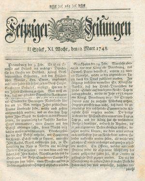 Leipziger Zeitungen vom 12.03.1748