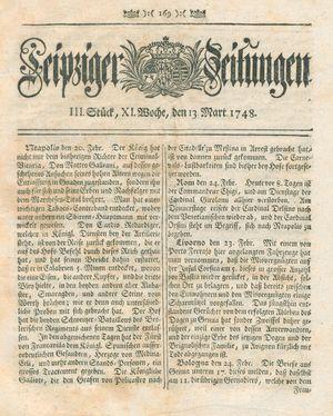 Leipziger Zeitungen vom 13.03.1748