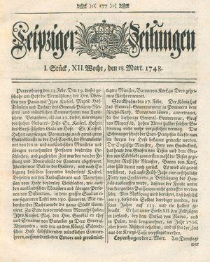Leipziger Zeitungen vom 18.03.1748