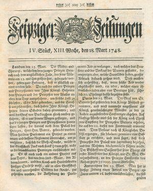 Leipziger Zeitungen vom 28.03.1748