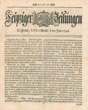 Leipziger Zeitungen vom 05.06.1748