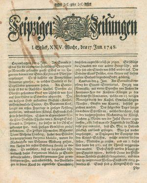 Leipziger Zeitungen vom 17.06.1748