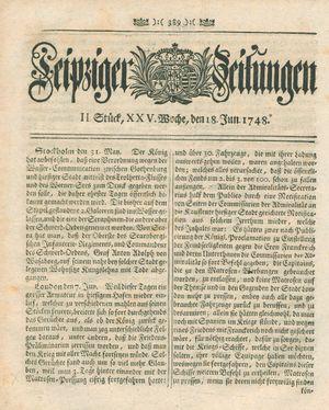 Leipziger Zeitungen vom 18.06.1748