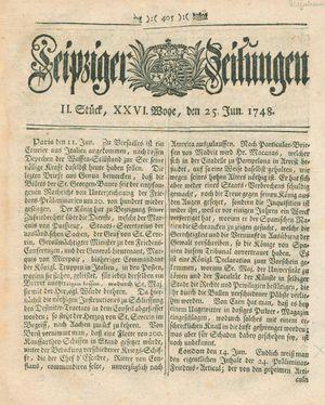 Leipziger Zeitungen vom 25.06.1748
