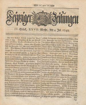 Leipziger Zeitungen vom 04.07.1748