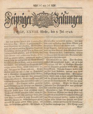 Leipziger Zeitungen vom 08.07.1748