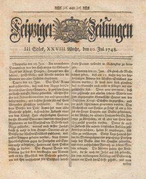 Leipziger Zeitungen vom 10.07.1748