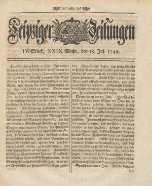 Leipziger Zeitungen vom 18.07.1748