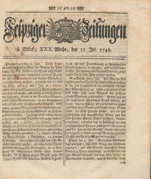 Leipziger Zeitungen vom 22.07.1748