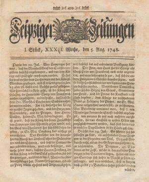 Leipziger Zeitungen on Aug 5, 1748