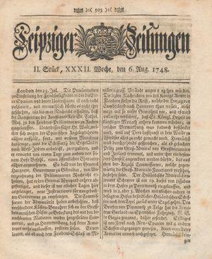 Leipziger Zeitungen vom 06.08.1748