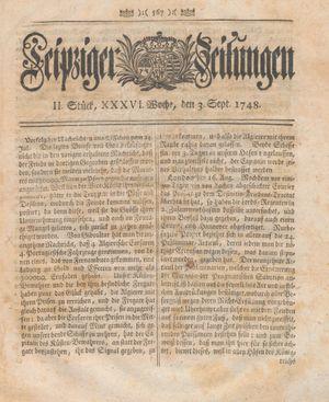 Leipziger Zeitungen vom 03.09.1748