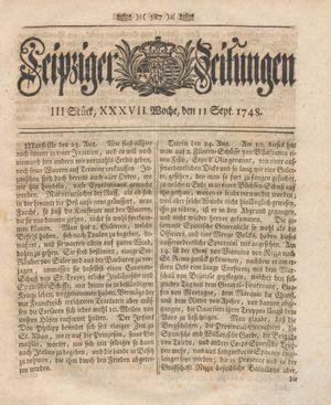 Leipziger Zeitungen vom 11.09.1748