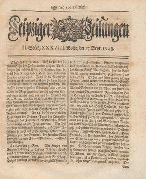 Leipziger Zeitungen vom 17.09.1748