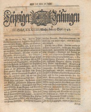 Leipziger Zeitungen vom 18.09.1748