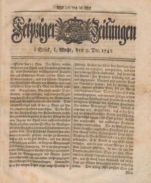 Leipziger Zeitungen vom 09.12.1748