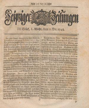 Leipziger Zeitungen vom 11.12.1748