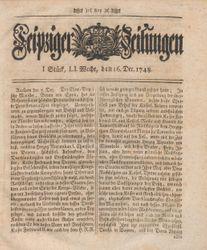 Leipziger Zeitungen (16.12.1748)