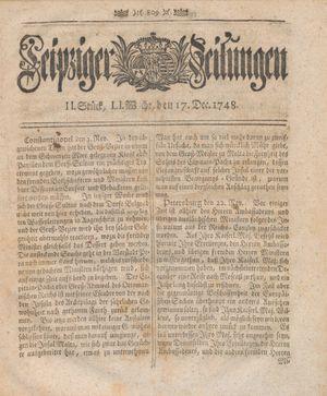 Leipziger Zeitungen vom 17.12.1748