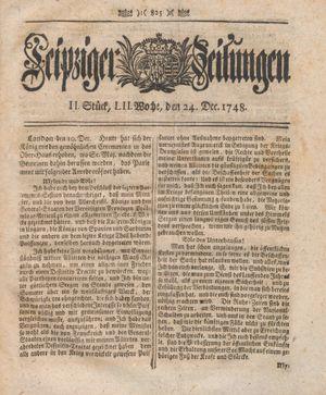 Leipziger Zeitungen vom 24.12.1748