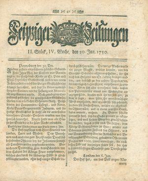 Leipziger Zeitungen on Jan 20, 1750