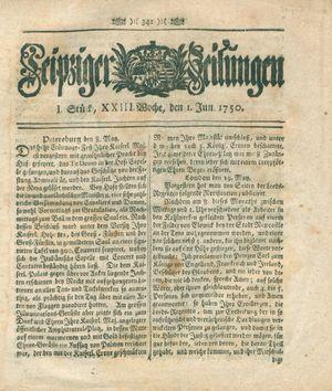 Leipziger Zeitungen vom 01.06.1750