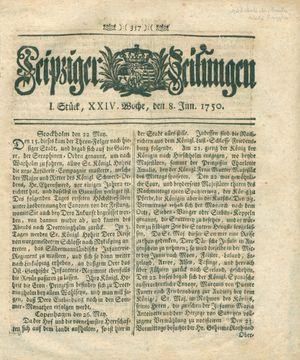 Leipziger Zeitungen vom 08.06.1750