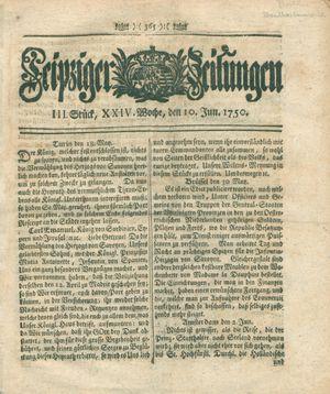 Leipziger Zeitungen vom 10.06.1750