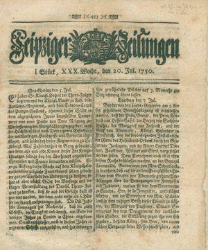 Leipziger Zeitungen vom 20.07.1750