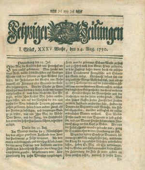 Leipziger Zeitungen vom 24.08.1750