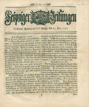 Leipziger Zeitungen on Dec 29, 1750