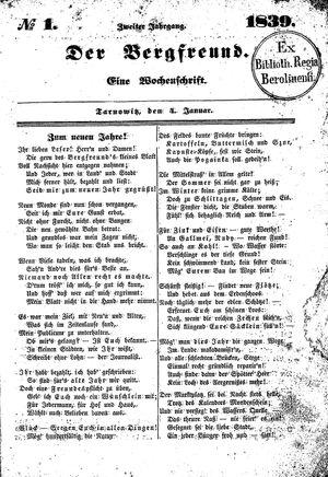 ˜Derœ Bergfreund vom 04.01.1839