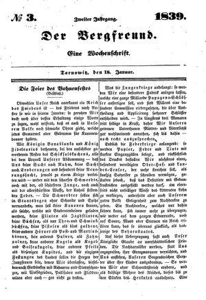 ˜Derœ Bergfreund vom 18.01.1839