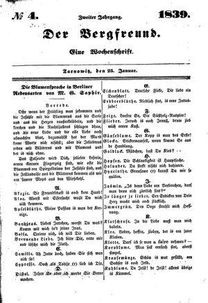 ˜Derœ Bergfreund vom 23.01.1839