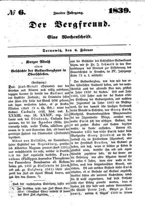 ˜Derœ Bergfreund vom 08.02.1839